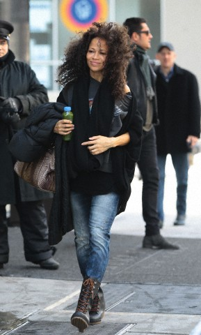 Sherri Saum spotted out in New York City, February 14, 2014
